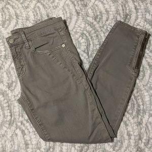 Gap Gray Skinny Moto Skinny Jeans